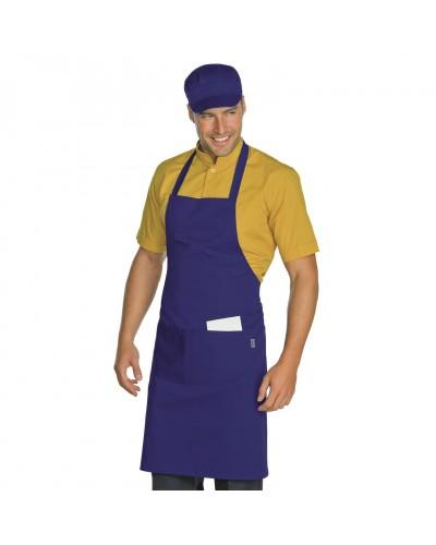Grembiule Cuoco Pettorina Colori Vari Regolabile Isacco