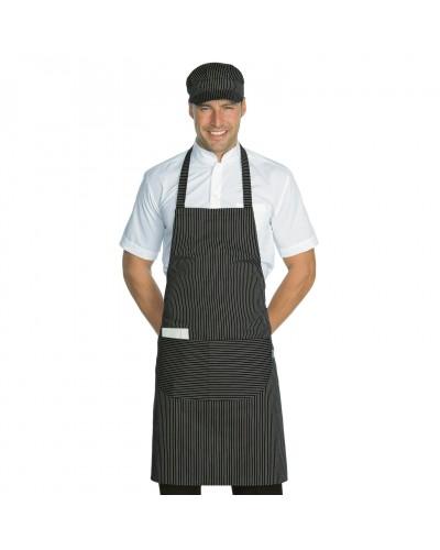 Grembiule Cuoco Pettorina Vienna Nero regolabile Isacco