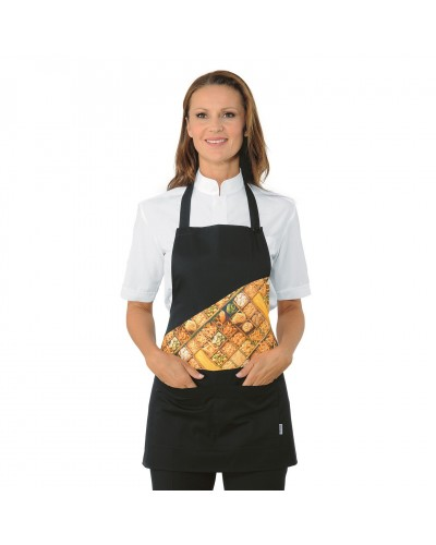 Grembiule Cameriere Lollipop Pasta Nero Regolabile Isacco