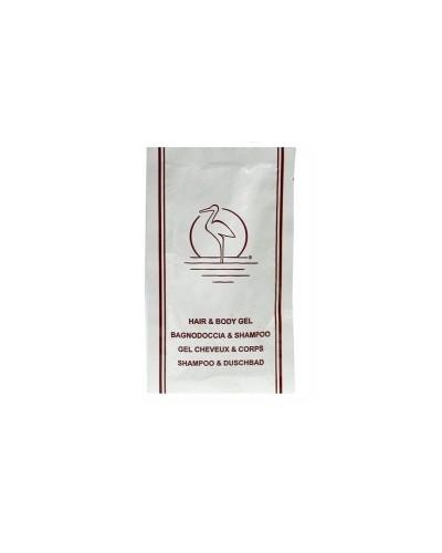Bustine Doccia Shampoo 10 ml Airone 200 pz per Hotel e B&B