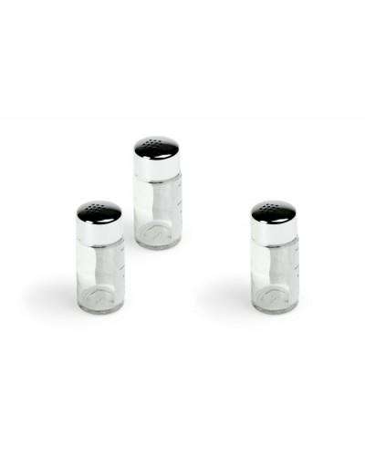 Spargisale e Pepe Daisy vetro con tappo acciaio inox