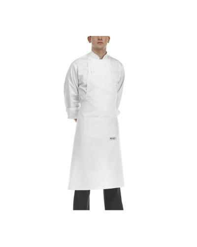 Grembiule Cuoco Pettorina Bianco 90x70 cm Egochef