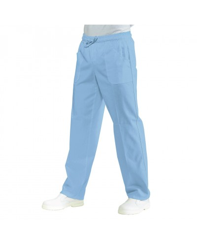 Pantalone Unisex con Elastico Celeste Isacco