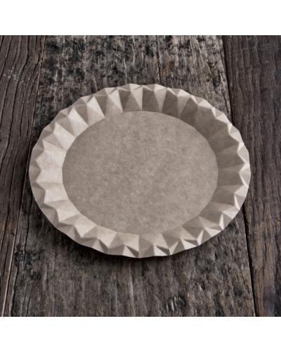 Kraft cardboard plates 23 cm 100 pcs