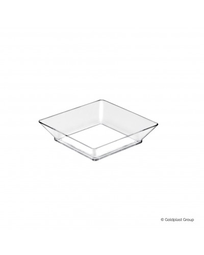 Vassoio Small Plate Trasparente 75mm 25 pz per Finger Food Gold Plast