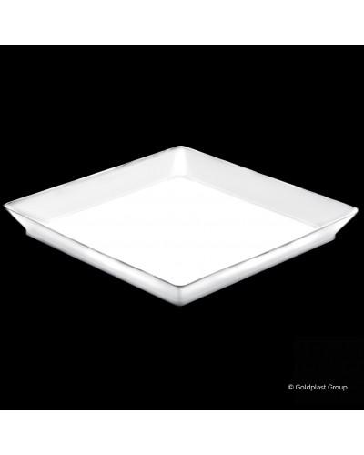 Vassoio Medium Plate Bianco 13cm 25 pz