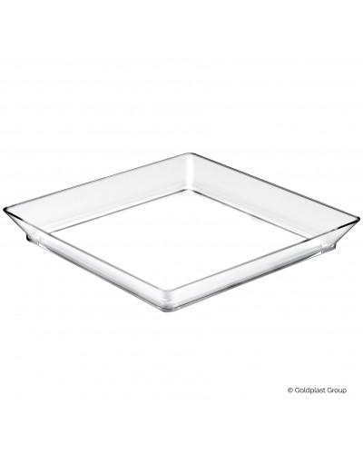 Vassoio Medium Plate Trasparente 13cm 25 pz