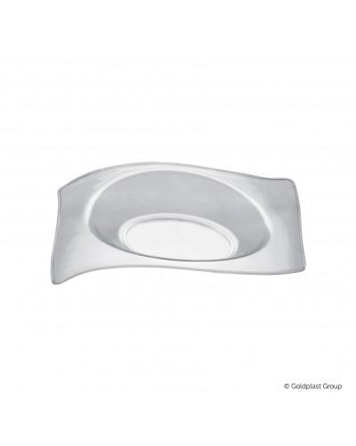 Piattino Flat Trasparente 15cc 50pz per Finger Food Gold Plast
