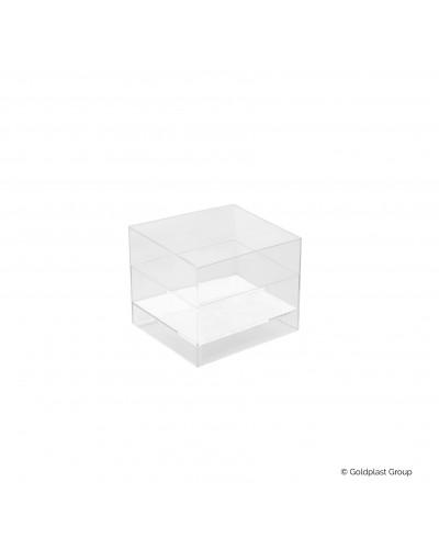 Coppetta Cube Trasparente 60cc 15pz per Finger Food Gold Plast
