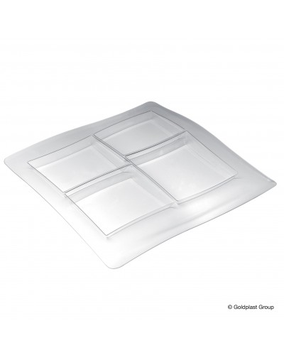 Vassoio Food Poker Trasparente per Buffet Gold Plast