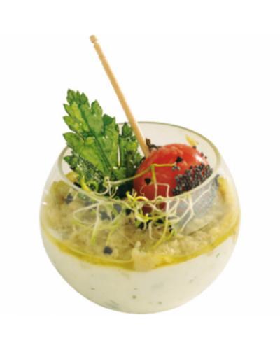 Coppetta Sfera Small Trasparente 5 pz per Finger Food Dampe