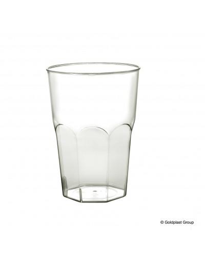 Bicchieri Ottagonali Trasparenti 350cc 20 pz