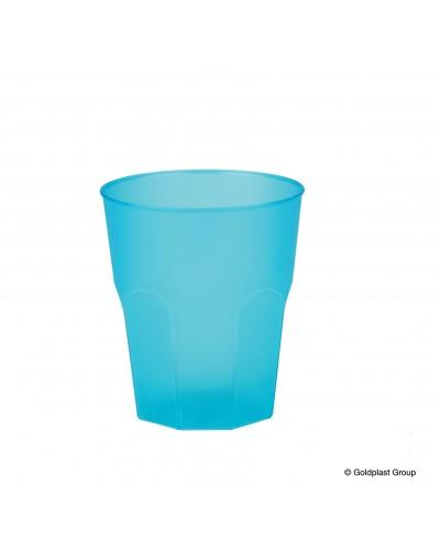 Bicchieri Cocktail Ottagonali Turchesi 270cc 20 pz Gold Plast