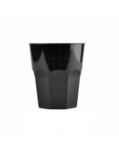 Bicchieri Ottagonali Neri 270cc 20 pz