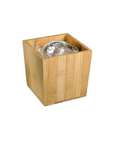 Porta Rifiuti da Tavolo in Bamboo 11x11x11 cm Leone