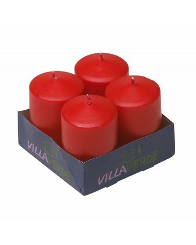 Set 4 pz Cero Rosso 10x5 cm