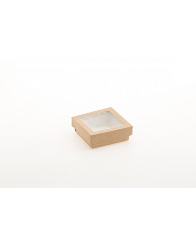 Scatola Food Box Con Finestra 12x12x4,5 cm 25pz Leone