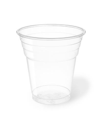 Bicchiere Bevande Pet Trasparente 200 cc al Bordo 50 pz Aristea
