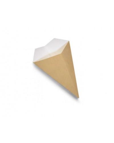 Cono Porta Fritti Grande 22,5 cm Avana 50 pz SDG