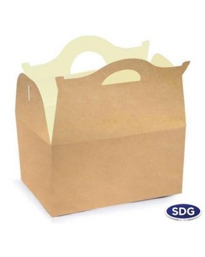 Scatola Porta Alimenti Happy Meal Avana 25 pz SDG