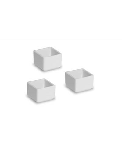 Coppetta Porcellana Quadrata Bianca 5x4 cm
