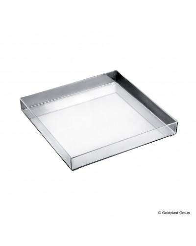 Vassoio Fashion Trasparente 30x30 cm