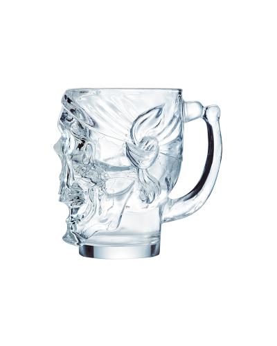 Bicchiere Birra Skull Teschio con Manico 90 cl in Vetro Arcoroc