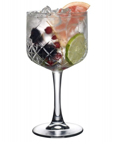 Set 4 Calici Gin Tonic Timeless 55 cl in Vetro Intagliato Pasabache