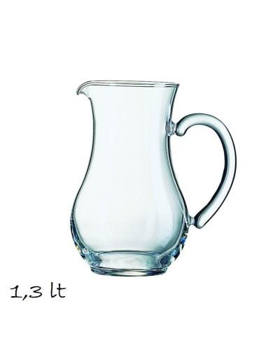 Caraffa Pichet da 1,3 lt in Vetro Arcoroc per Acqua e Vino