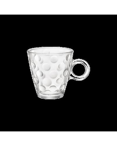 Set 6 Tazze Cappuccino Dots da 22 cl in Vetro Bormioli Rocco