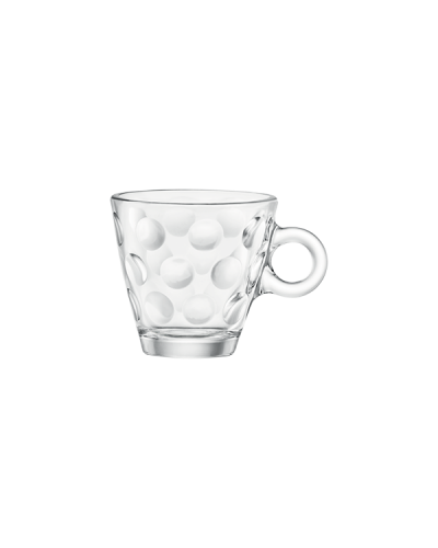 Set 6 Tazze Caffè Dots da 10 cl in Vetro Bormioli Rocco