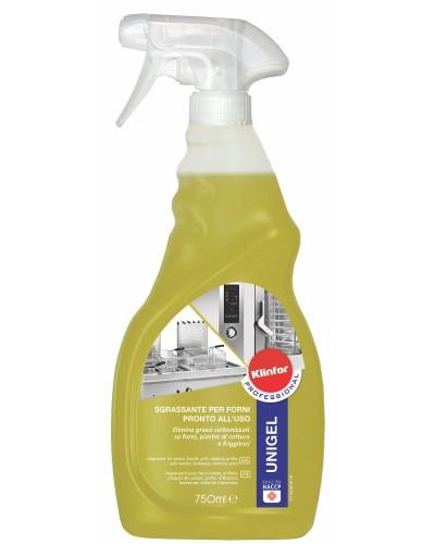 Detergente Sgrassatore Unigel per Cappe e Forni da 750 ml Klinfor