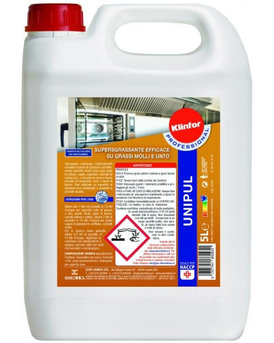 Detergente Sgrassatore Unipul 5 kg per Piani Cottura e Cappe Klinfor