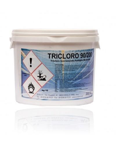 Cloro in Pastiglie per Manutenzione Piscine Tricloro 90/200 10 kg Aral