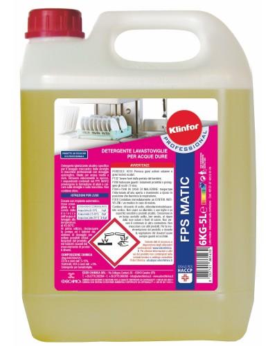Detergente Lavastoviglie FPS Matic da 6 kg per Acque Dure Klinfor