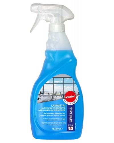 Detergente Lava Vetri Cristall da 750 ml Antistatico Klinfor