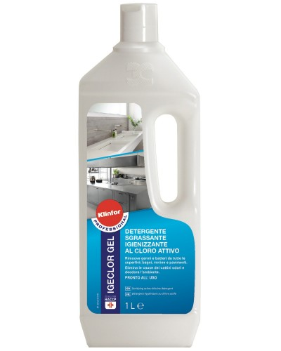 Detergente Igienizzante Igeclor 1 lt al Cloro Attivo Klinfor