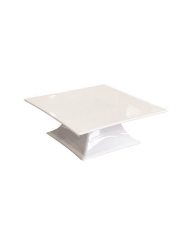 Alzata Quadrata Bianca in Policarbonato da 30x30x10,5 cm per Buffet