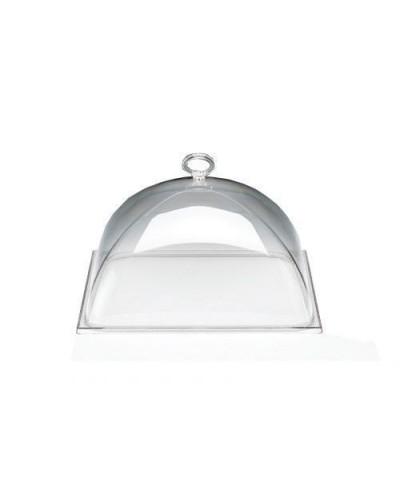 Coperchio per Alzata Quadrata in Policarbonato da 30x30 cm per Buffet