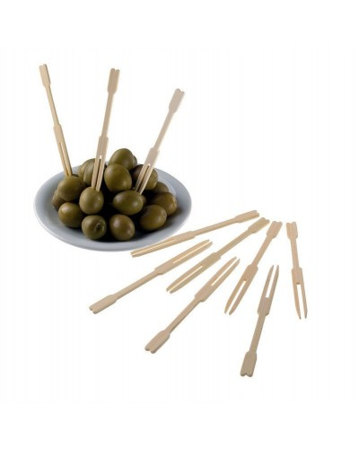 Forchettine Finger Food Bamboo 500 pz per Aperitivo