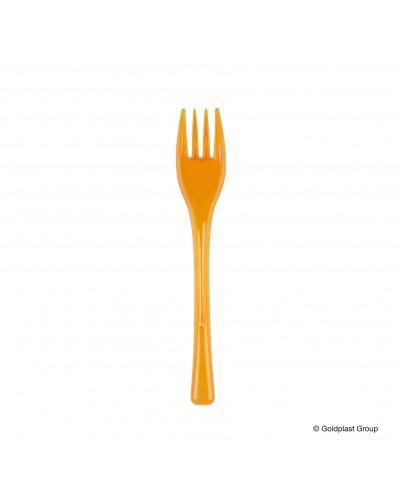 Forchette Dessert Fly in Plastica Arancione 50 pz da 12 cm GoldPlast