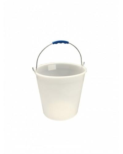 Secchio Plastica Bianco da 9 lt Lavapavimenti e Alimenti Mobilplastic