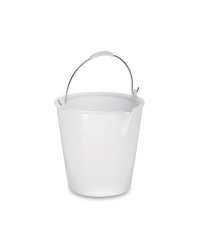 Secchio Plastica Bianco con Becco da 9 lt Per Alimenti Giganplast