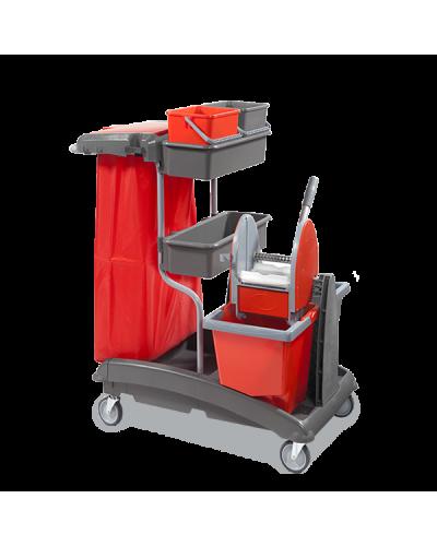 Carrello Pulizie Ideatop 6 Con Strizzatore Mop VDM