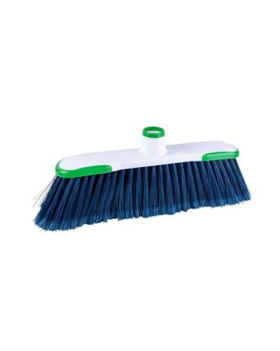 Scopa Per Interni Hygiene Plus Verde a Setole Morbide Haccp Arix