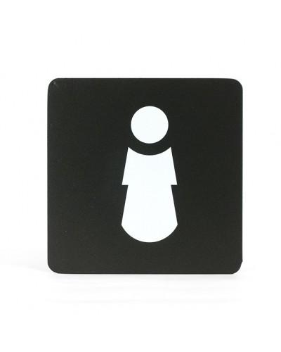 Pittogramma Segnaletica Adesiva WC Donna 16x16 cm