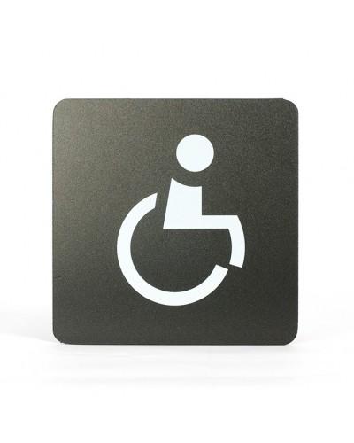 Pittogramma Segnaletica Adesiva WC Disabile 16x16 cm Stilcasa