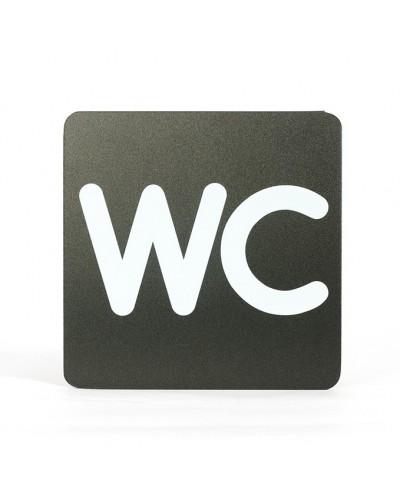 Pittogramma Segnaletica Adesiva WC Toilette 16x16 cm Stilcasa