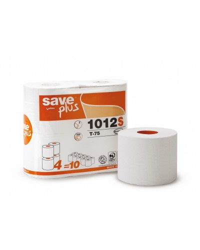 Carta Igienica Save 4 Rotoli Ecolabel da 500 Strappi Celtex