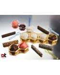 50 PZ MINI VASSOIO 2 SCOMPARTI ORO monoporzione gelato party finger aperitivi